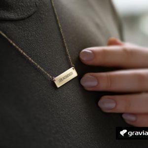 Halskette mit Gravur-Brave-Graviando
