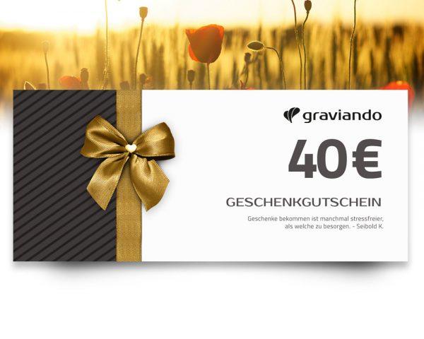 Geschenkgutschein -40