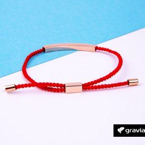 Gravur Armband Kordel Rot -5