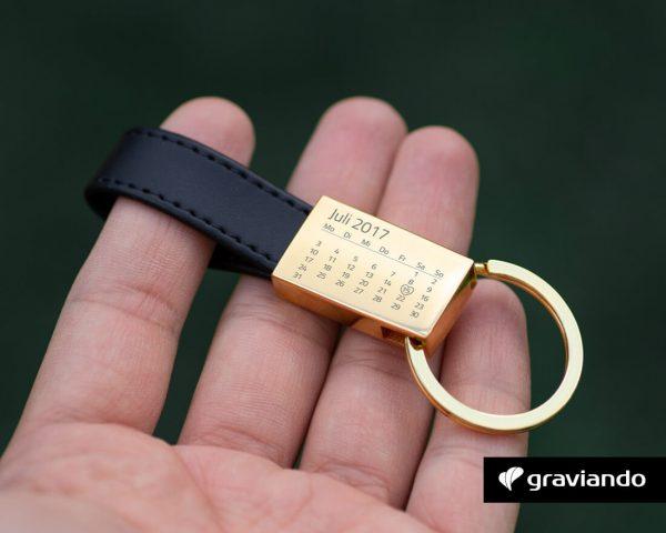 Schlüsselanhänger mit Kalender Graviando