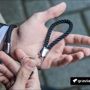 Schlüsselanhänger mit Gravur - Segeltau gedreht Graviando