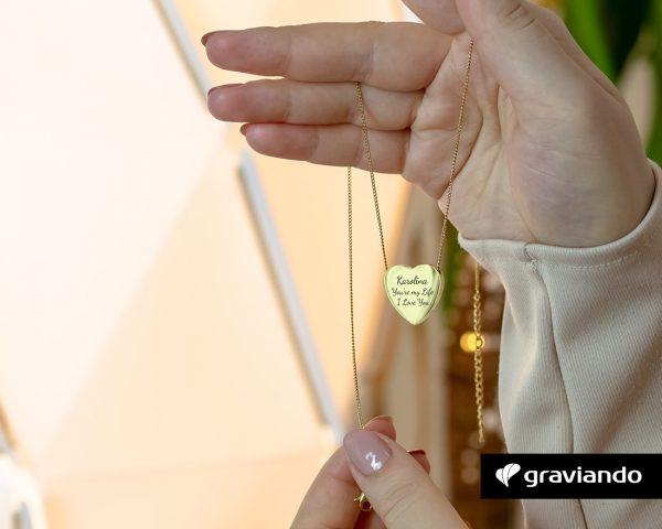 Herzkette mit Gravur Graviando