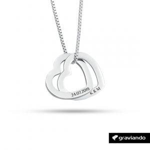 Halskette mit zwei Herzen