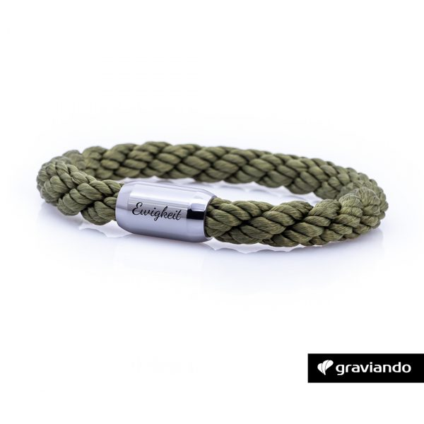 Armband mit Gravur Segelseil gedreht