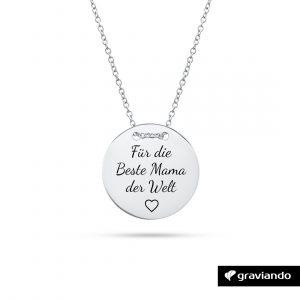 Halskette mit Namen und Datum Graviando