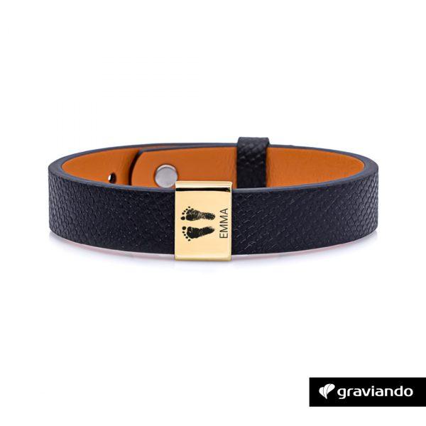 Personalisiertes Armband für Herren - Gold