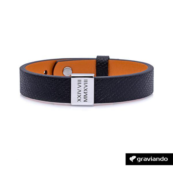 Personalisiertes Armband für Herren - Silber