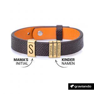 Personalisiertes Armband für Papa - Gold