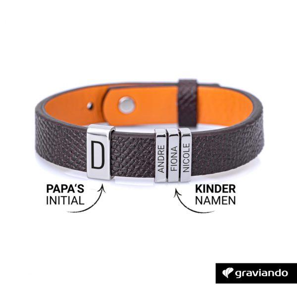 Personalisiertes Armband für Papa _Silber