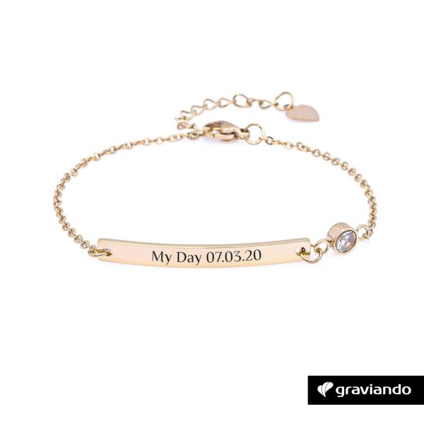 Personalisiertes Damen Armband mit Stein